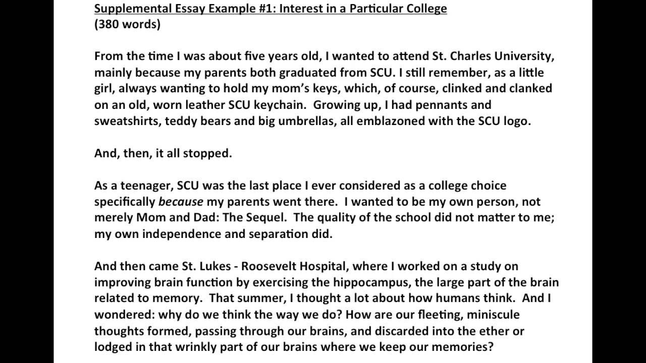 014 Maxresdefault Duke Supplement Essay Fearsome Collegevine Example Supplemental Reddit Full