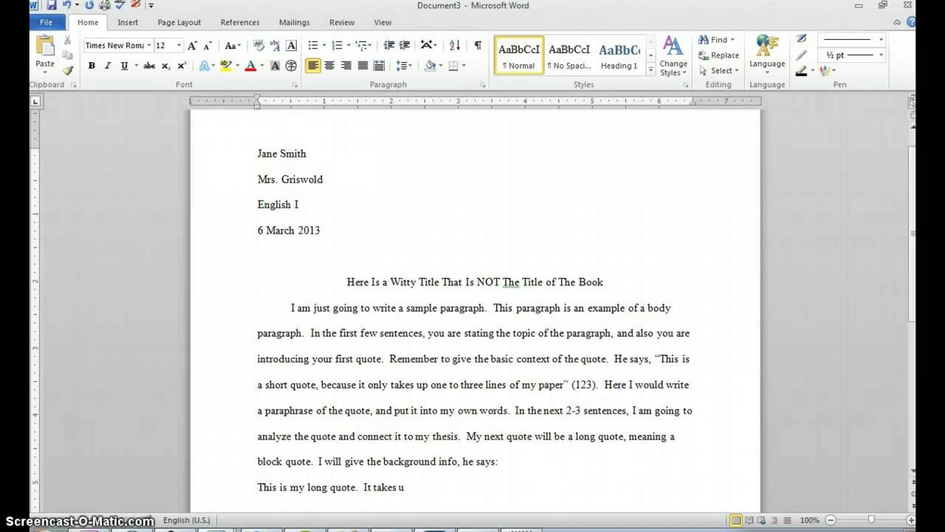 014 Maxresdefault Essay Example Using Quotes In Sensational An Examples Partial From A Website 1920
