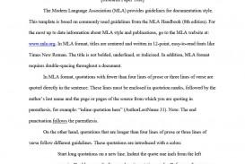 014 Mla Format Template Essay Rare Example Style Pdf
