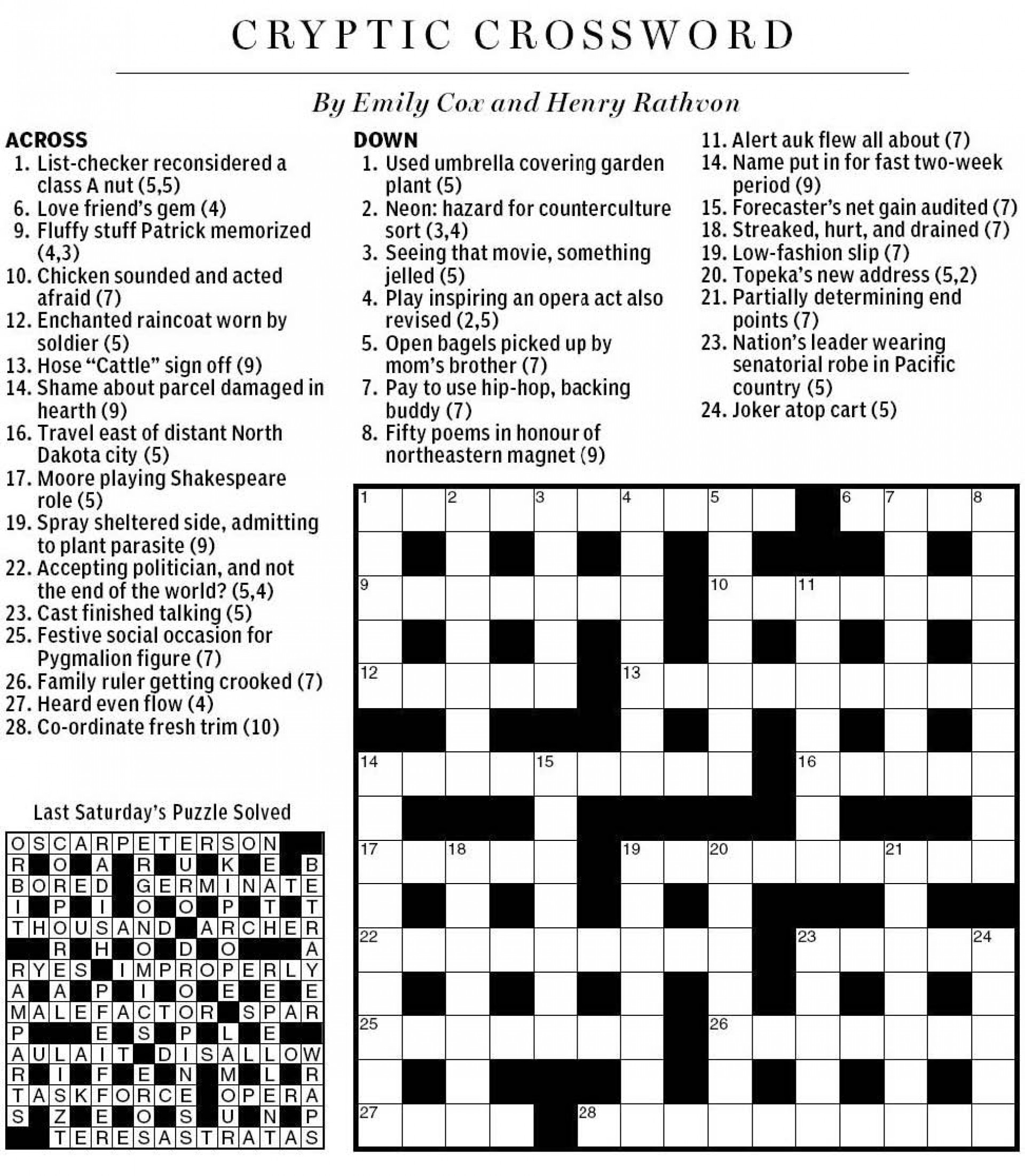 014 Name In Essays Crossword Clue Np20cryptic202010 2520sat Essay Excellent 1920