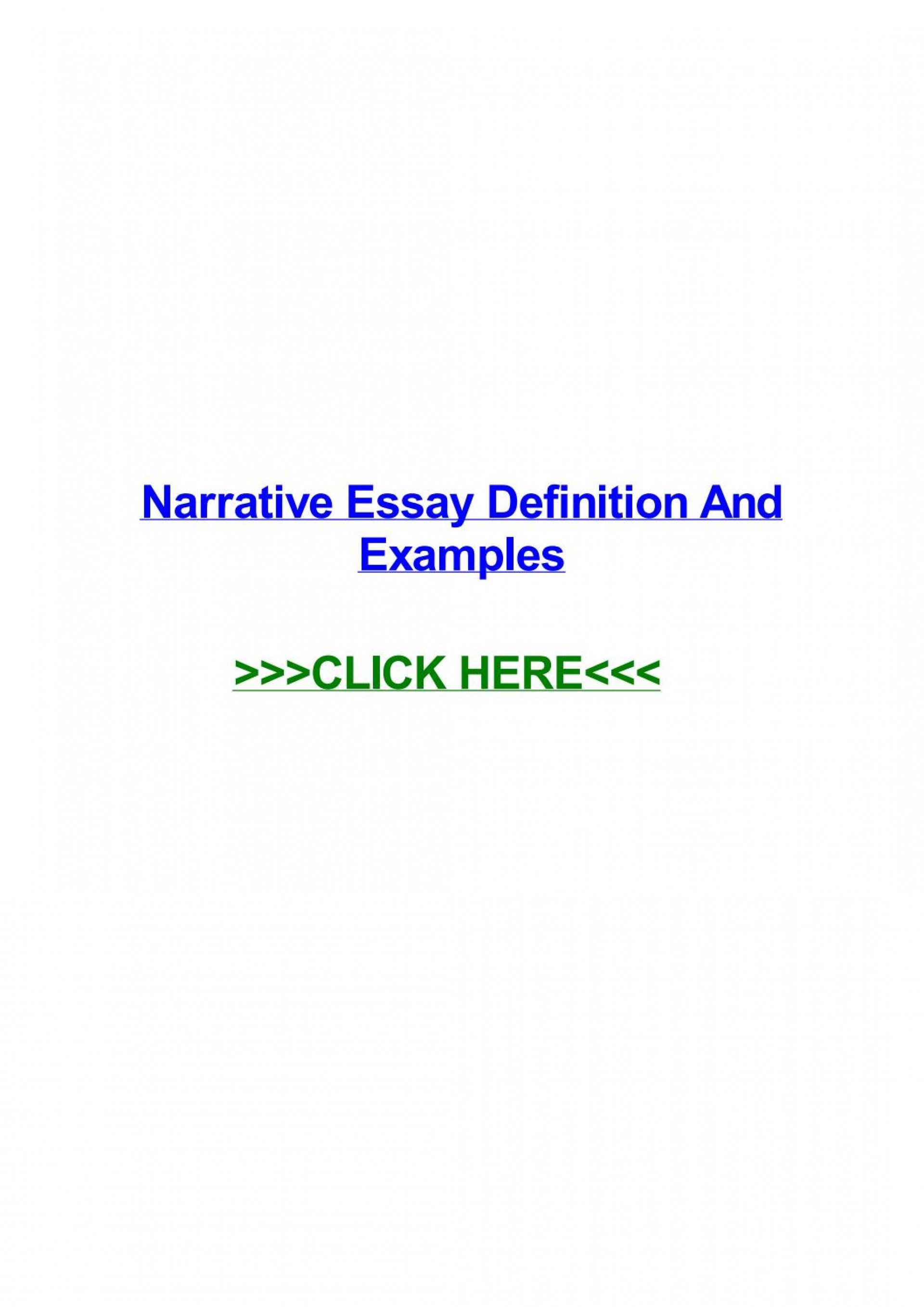 014 Narrative Essay Definition Example Page 1 Stunning Pdf Literature Slideshare 1920