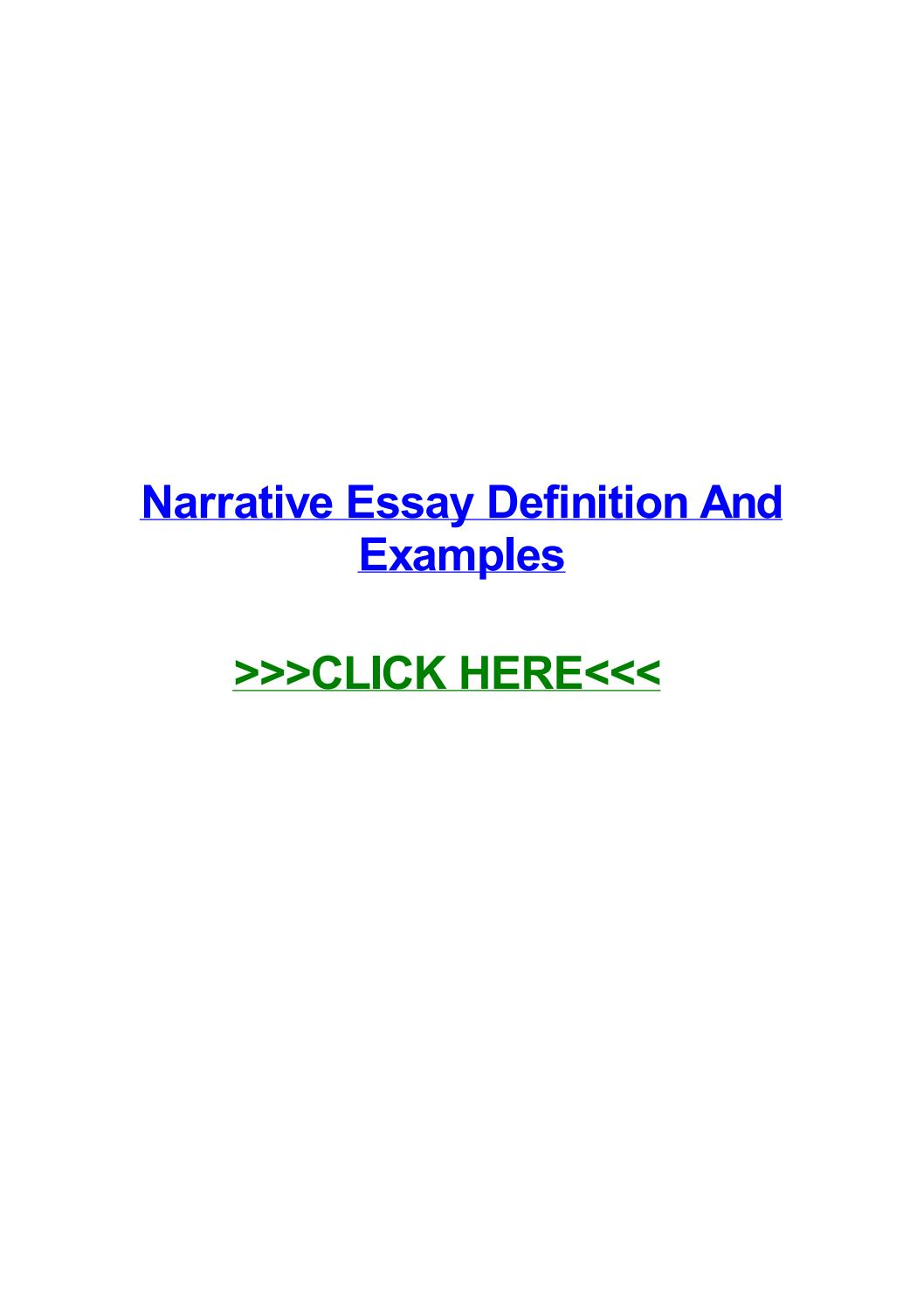 014 Narrative Essay Definition Example Page 1 Stunning Pdf Literature Slideshare Full