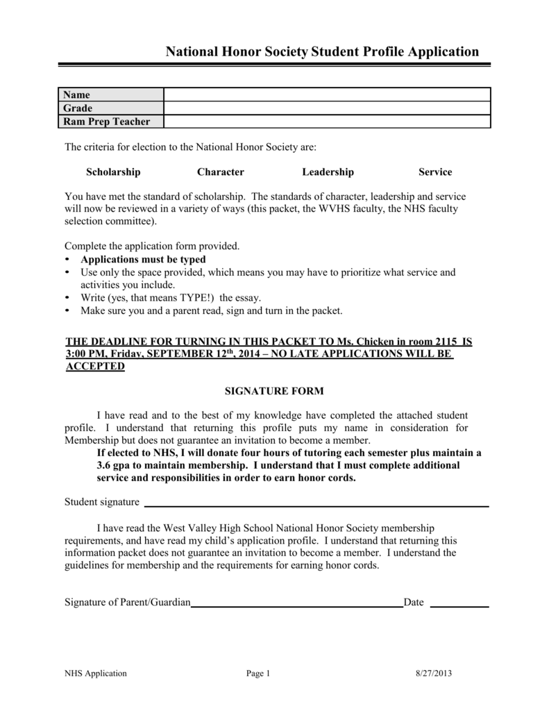 014 National Honor Society Character Essay Example 006915569 1 Staggering Examples Full