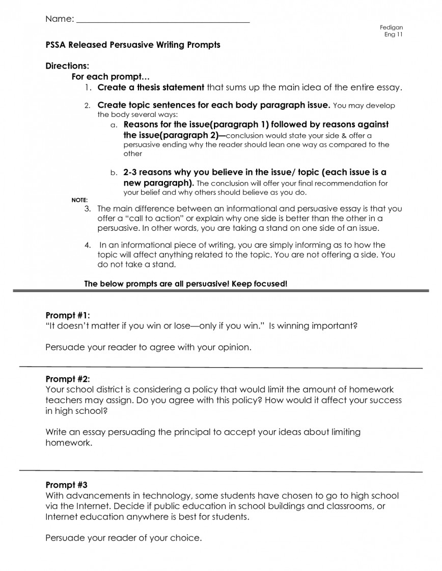 014 Persuasive Essay 6th Grade Writing Prompts 654695 Example Issues To Write An Awesome About Interesting Topics On For High School Social 868