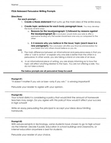 014 Persuasive Essay 6th Grade Writing Prompts 654695 Best For Middle School Science The Crucible Macbeth 360