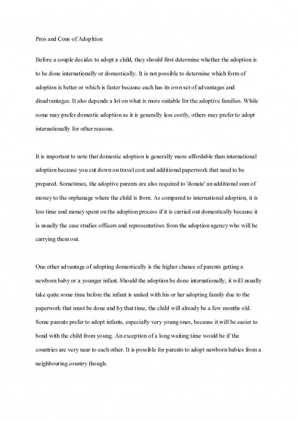 014 Process Essay Outline Adoption Samplecb Fantastic Template Pdf Large