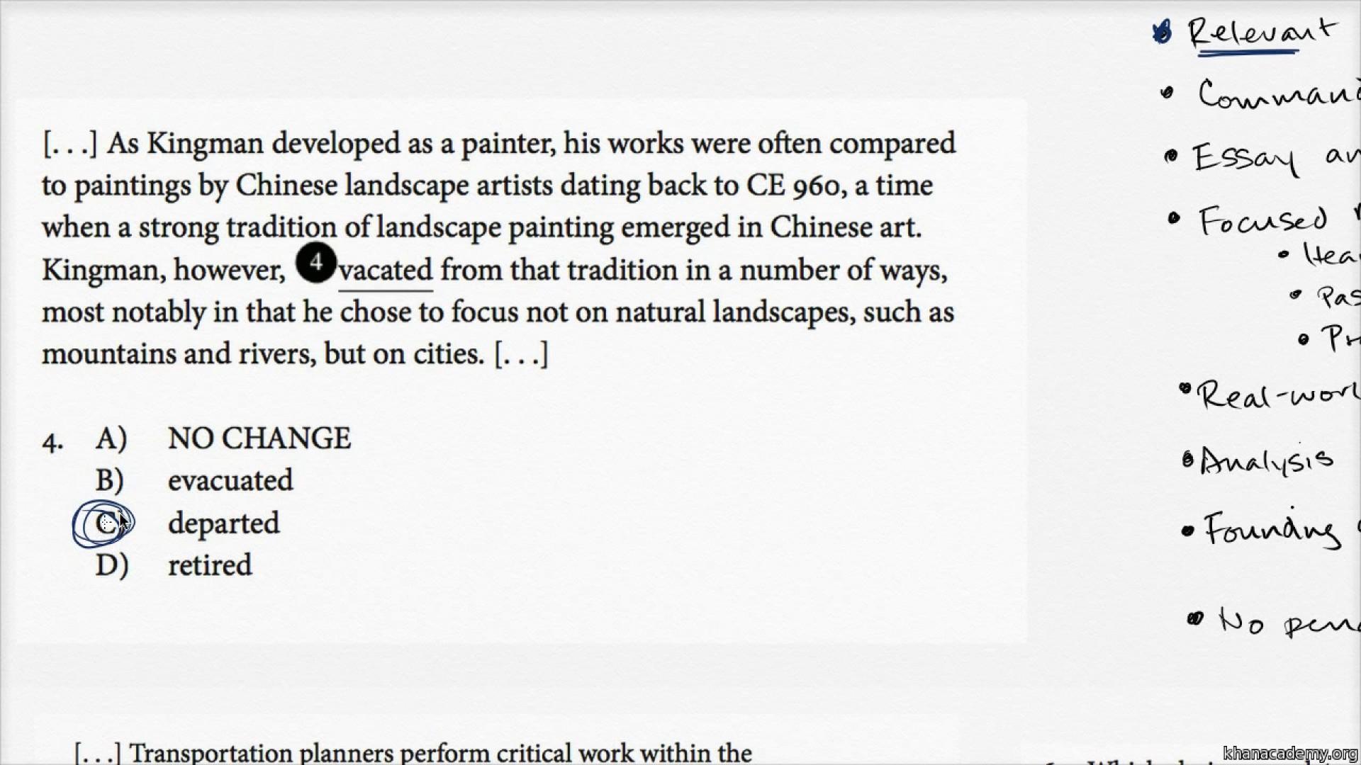 014 Rxjrhbs 21c Essay Example Sat Exceptional Practice Sample Jimmy Carter Test 1 8 1920