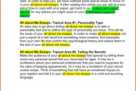 014 Sample College Admissions Essay Good Mba Essays School