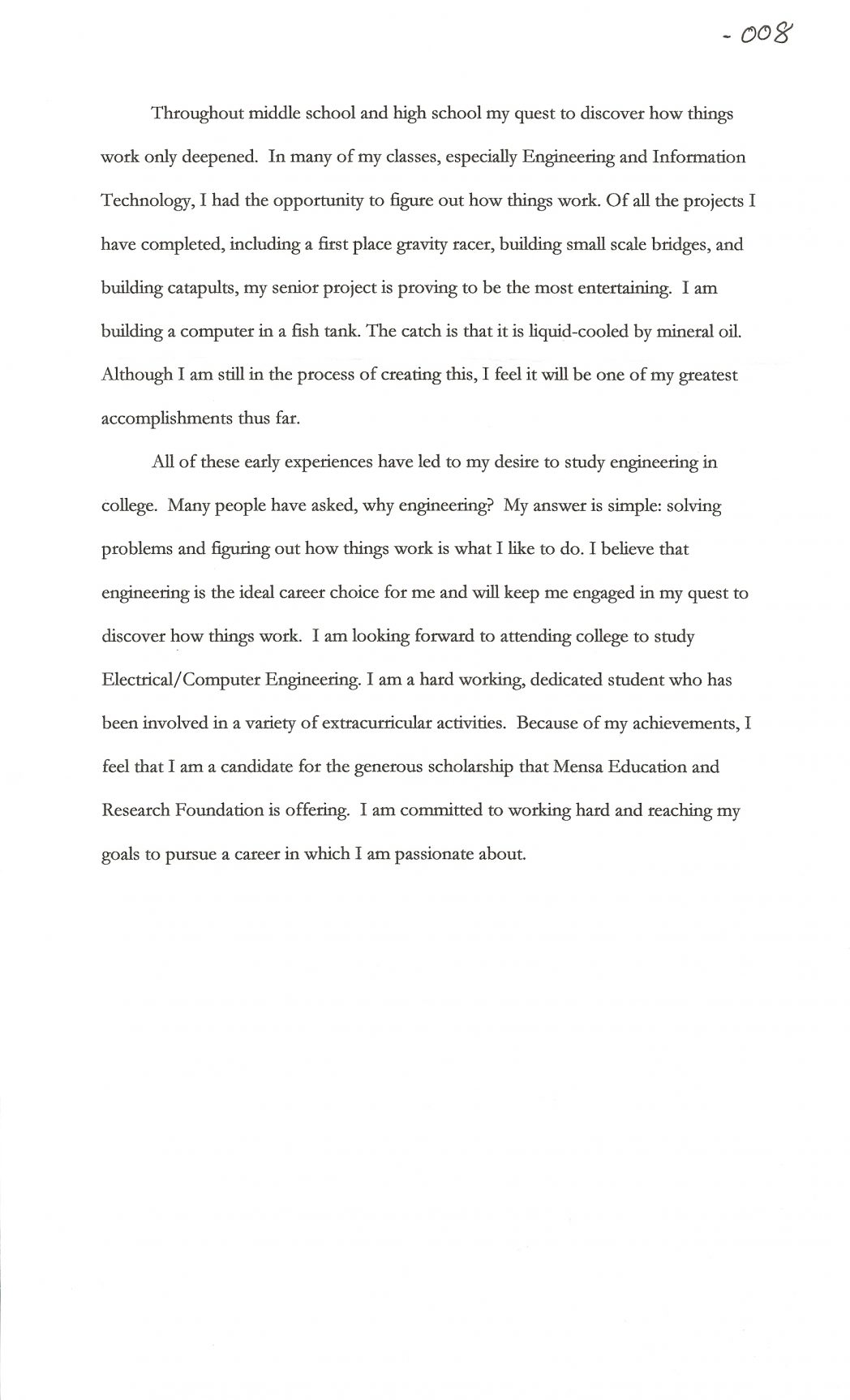 014 Sample Essay For Scholarship Scholarships Cover Letter Contests High School Juniors Joshua Cate No 1048x1726 Incredible Mara Personal Pdf Full