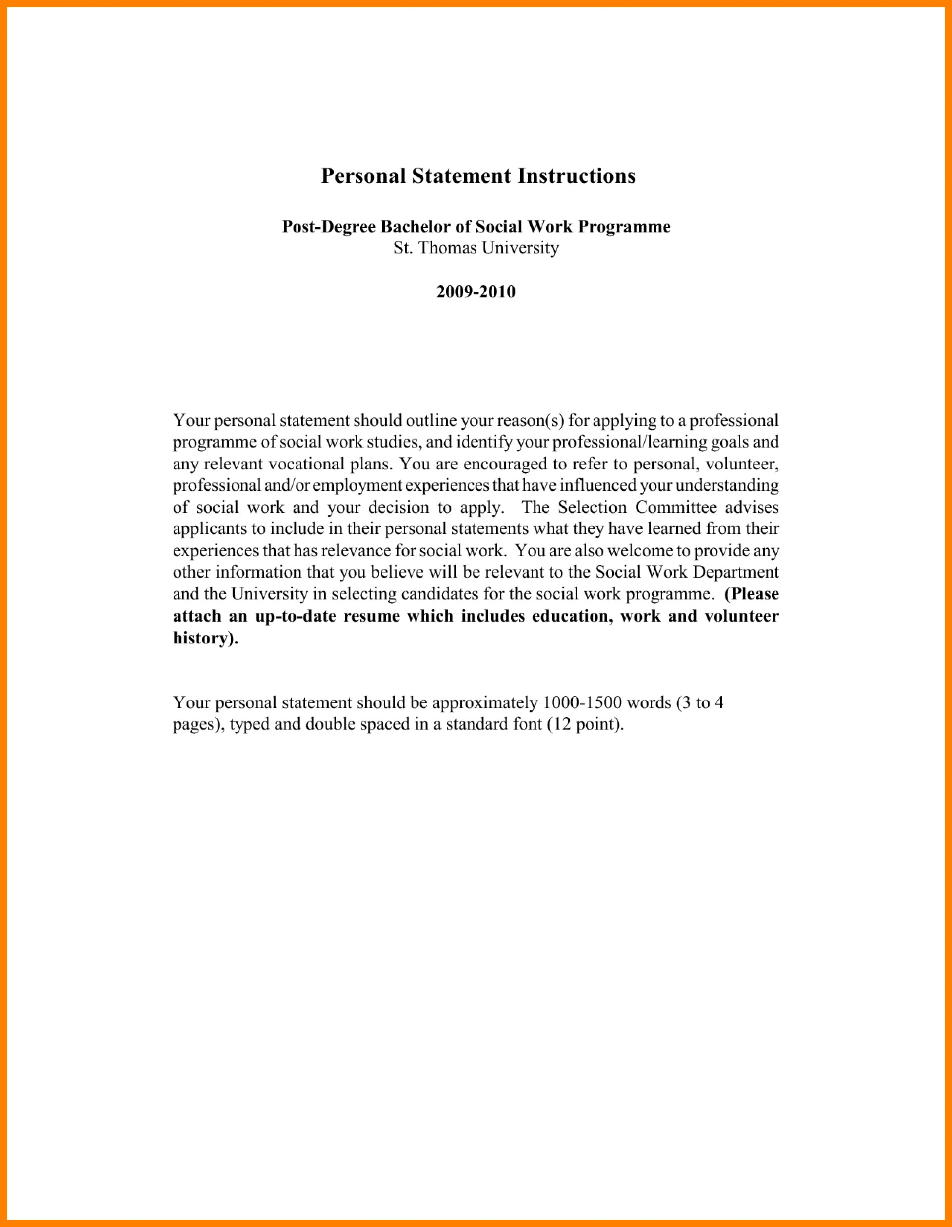 014 Social Work Personal Statement Essay Example Statements For Rare 1920