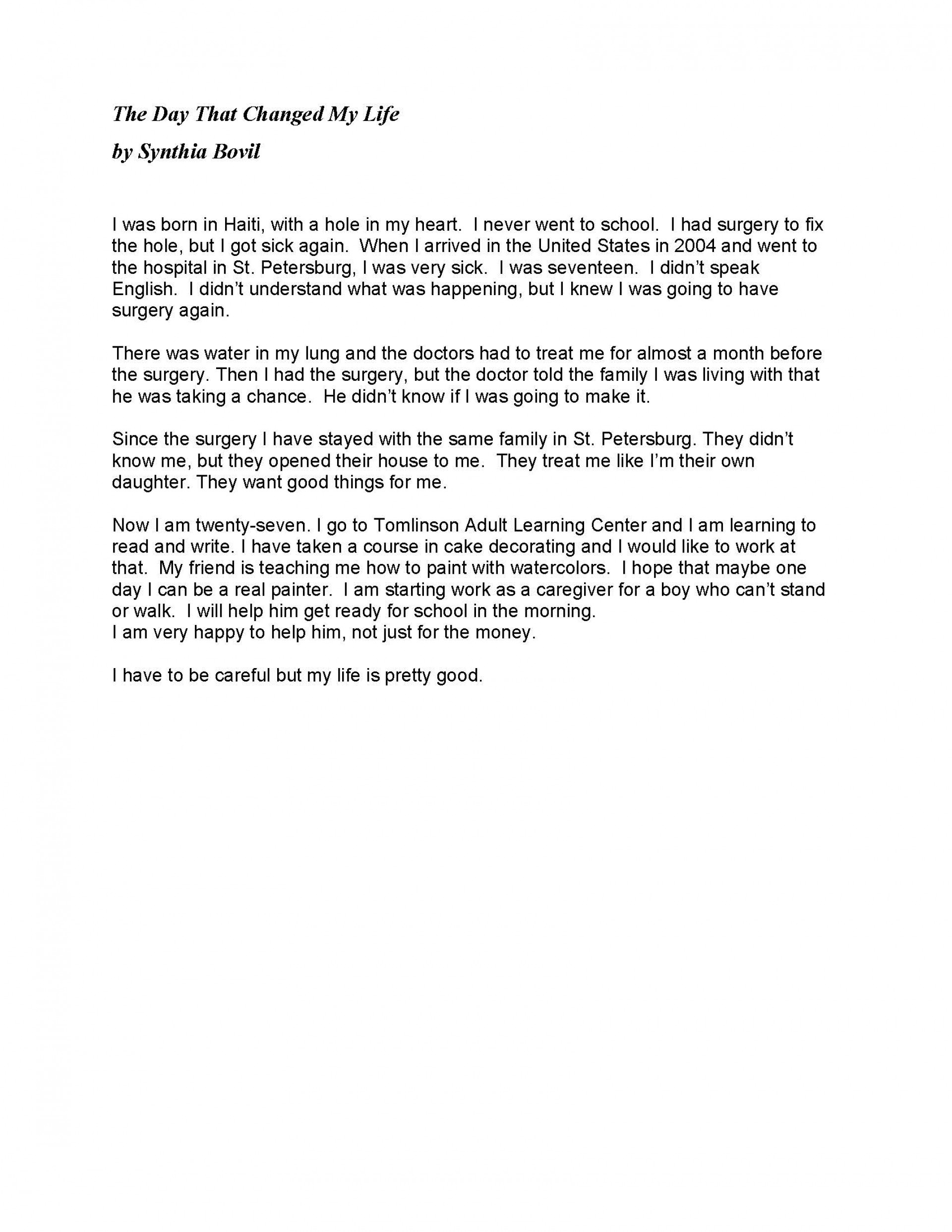 014 Student Essay Example Stories May 2014 Page 1 Awesome Template Prompts Bad Examples 1920