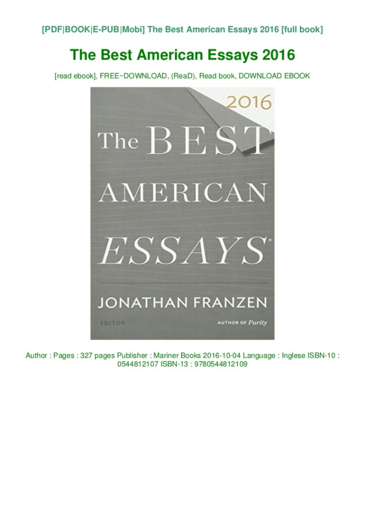014 The Best American Essays Essay Example Download Pdf Epub Audiobook Ebook Thumbnail Wonderful 2018 2017 Table Of Contents 2015 Free 728