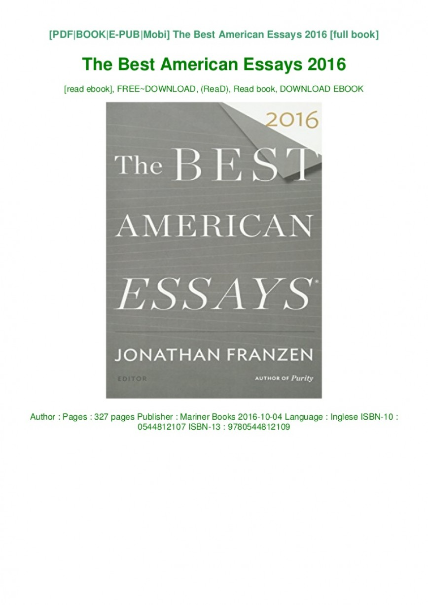 014 The Best American Essays Essay Example Download Pdf Epub Audiobook Ebook Thumbnail Wonderful 2018 2017 Introduction Free