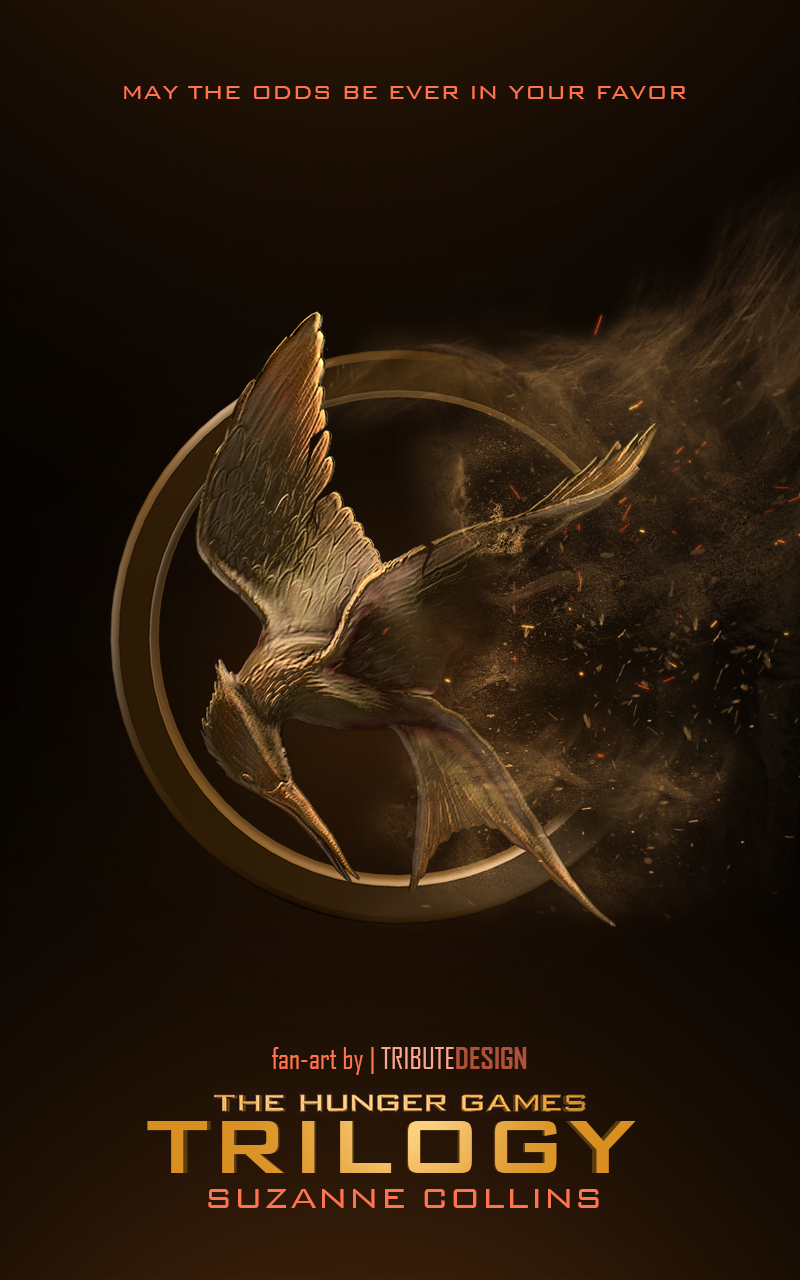 014 The Hunger Games Book Review Essay Example Trilogy Cover By Tributedesign Imposing Full
