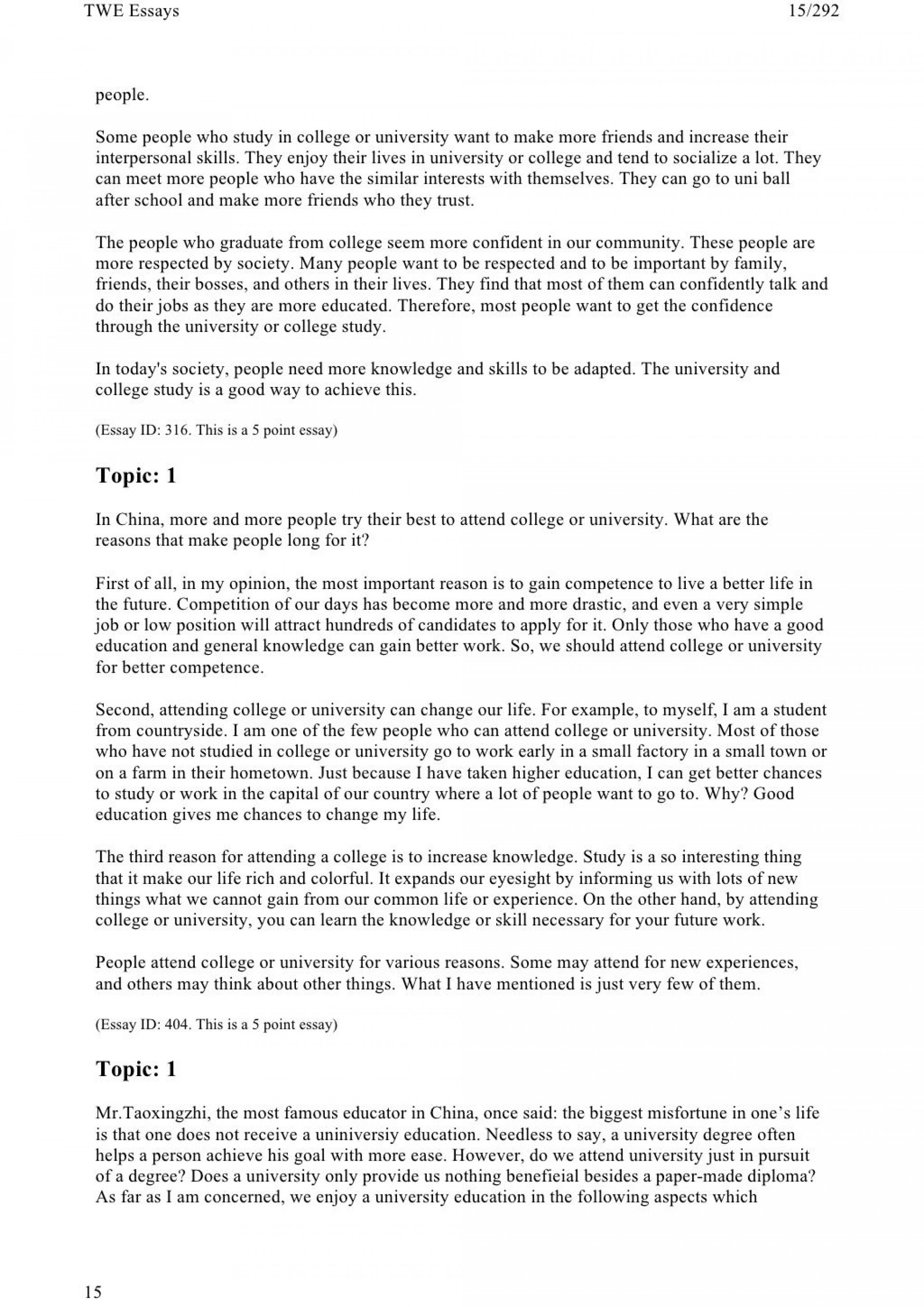 014 Toefl Writing Twe Topics And Model Essays Career Plan After College Graduation Essay My Plans Five Year Excellent High School Research Paper Prompts 1920