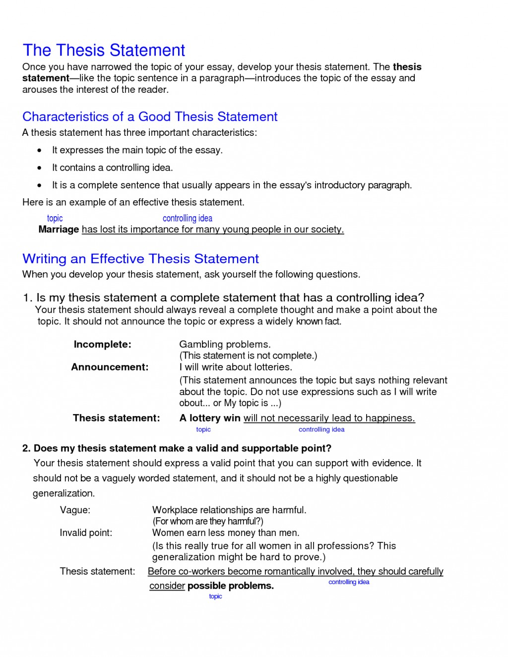 014 What Is Thesis Statement In An Essay Example Fascinating A The Purpose Of Argumentative Informative Large