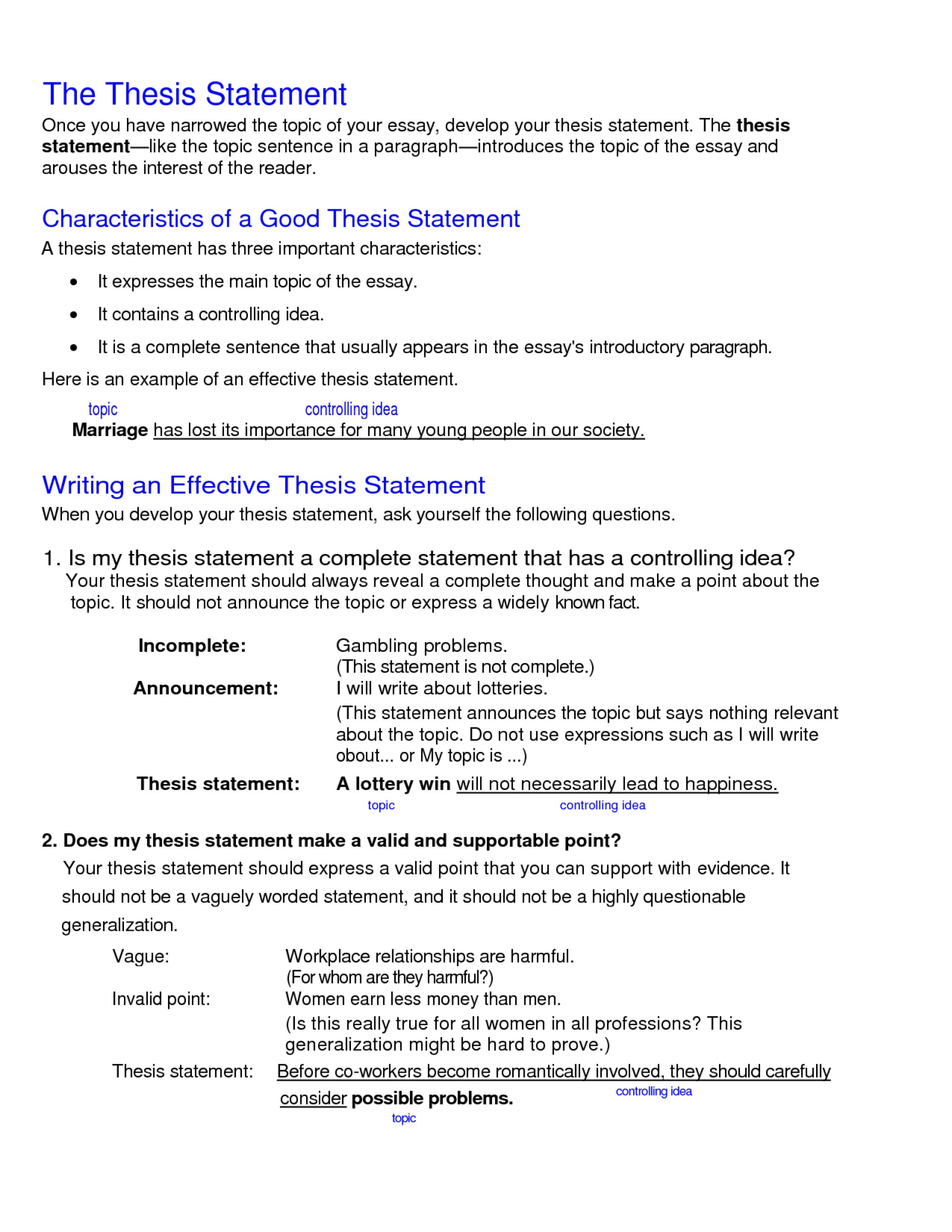 014 What Is Thesis Statement In An Essay Example Fascinating A The Purpose Of Argumentative Informative 1920