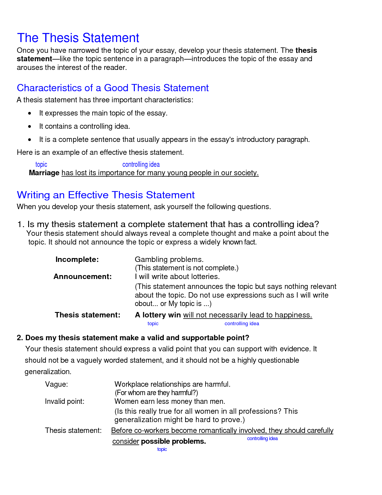 014 What Is Thesis Statement In An Essay Example Fascinating A The Purpose Of Argumentative Informative Full