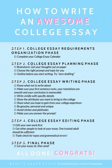 014 What Not To Write About In College Essay Frightening Things Your Admissions 360