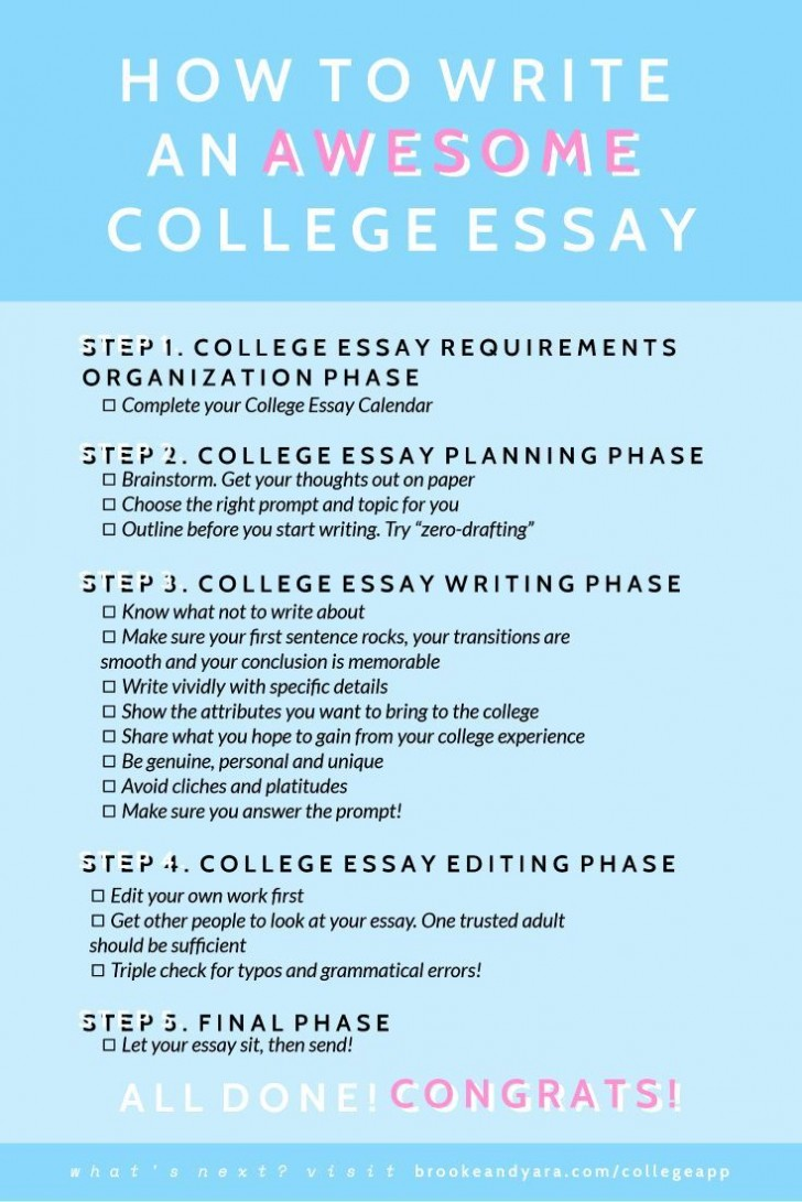 014 What Not To Write About In College Essay Frightening Things Your Admissions 728