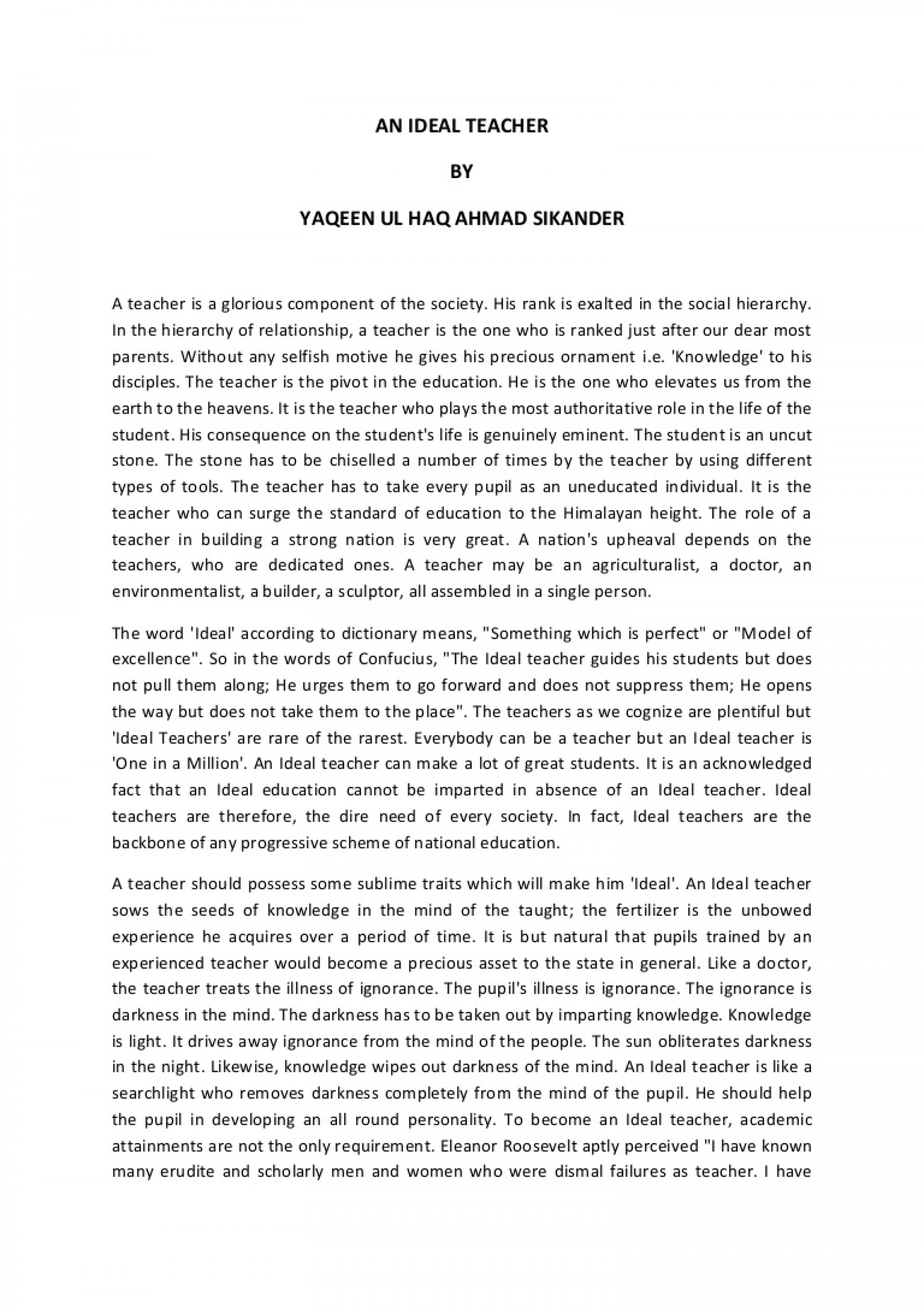 014 Why Do You Want To Teacher Essay Anidealteacher Phpapp02 Thumbnail Impressive Be A Pdf Would Become 1920