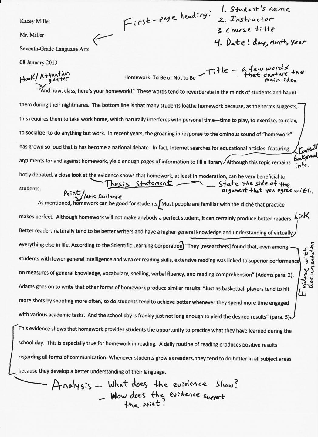 014 Word Essay Example Njhs National Junior Sample Imposing 1000 Pdf Reflective Full