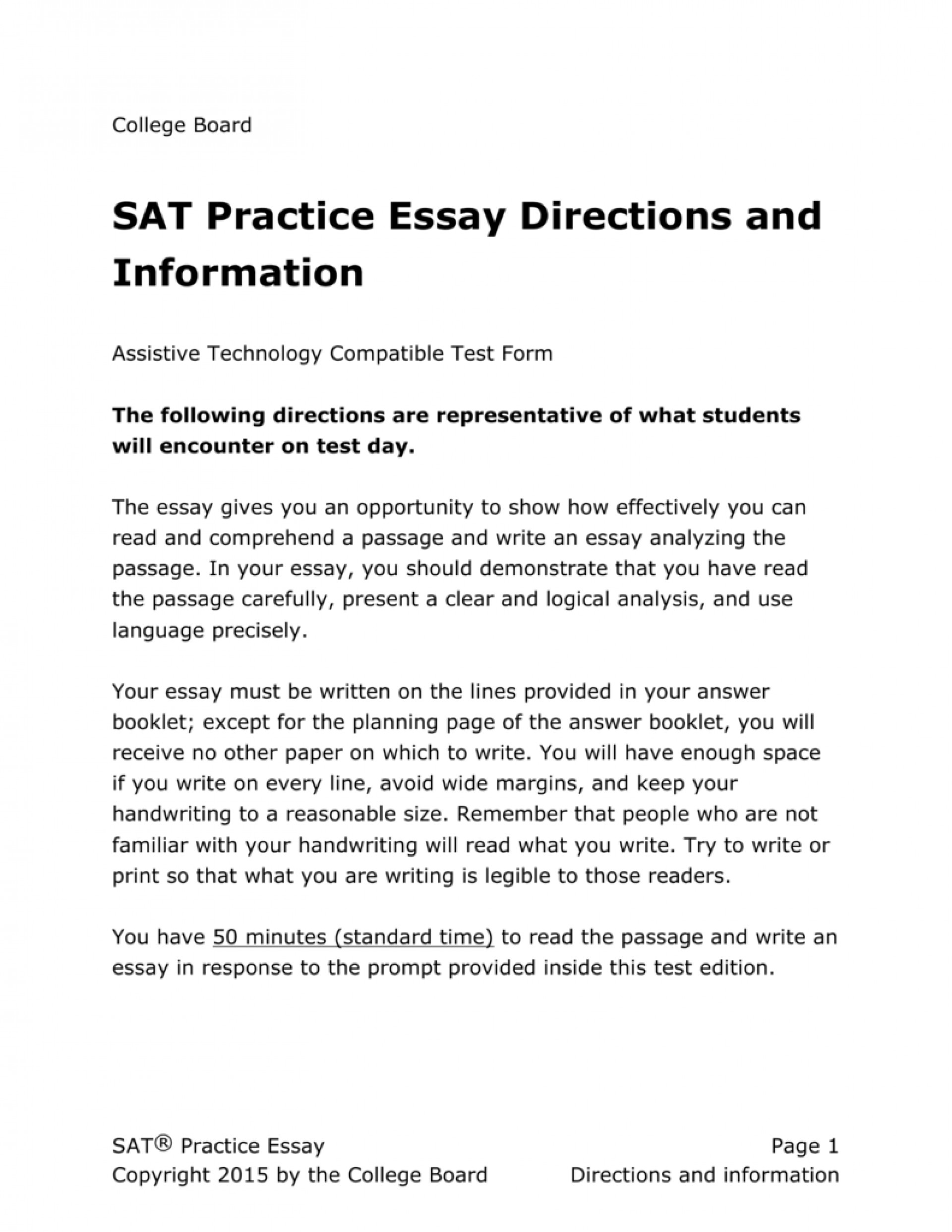 Madison : Sat practice test 1 essay