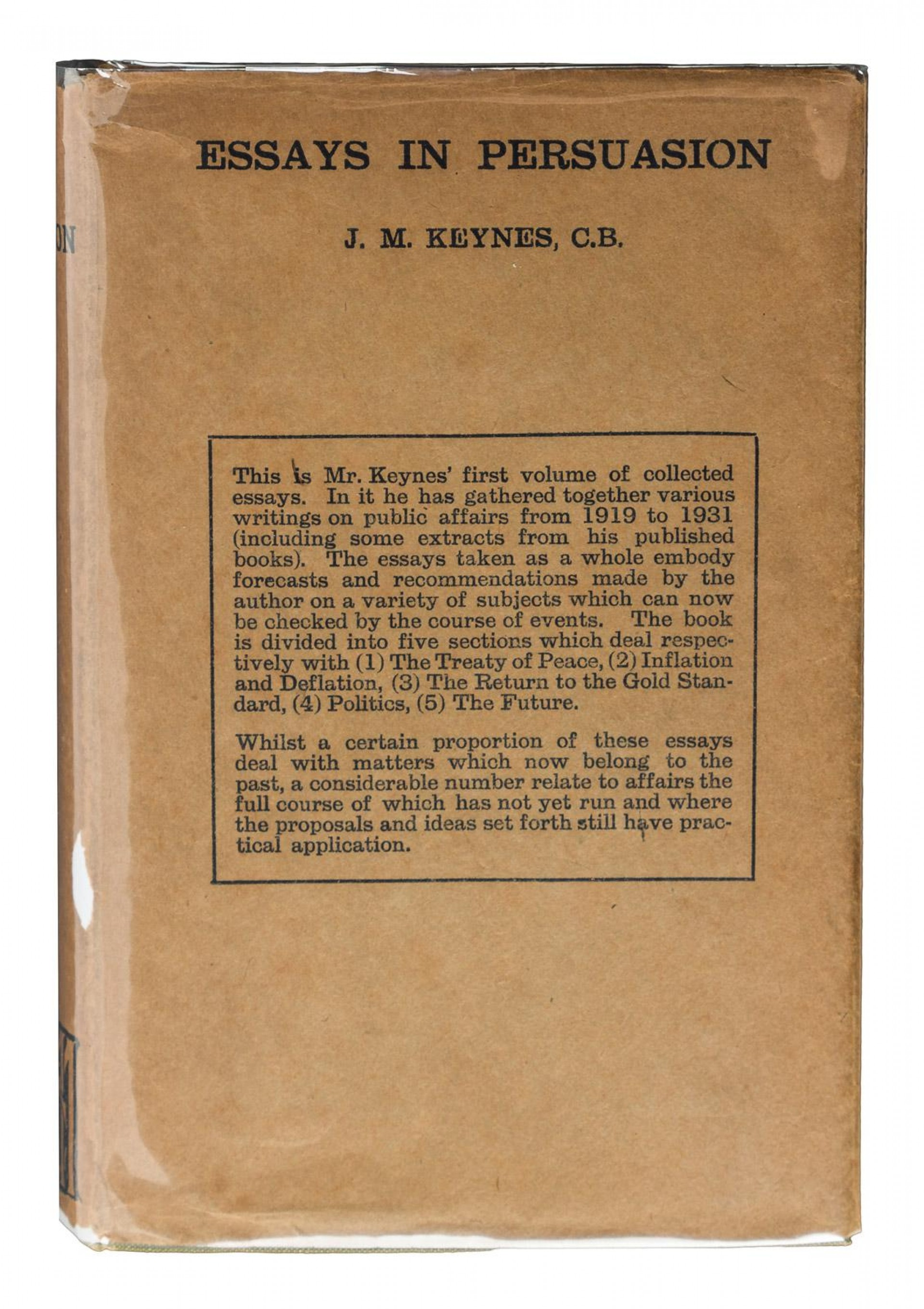 015 237551 0 Essay Example Essays In Remarkable Persuasion Keynes 1931 Wikipedia Summary 1920