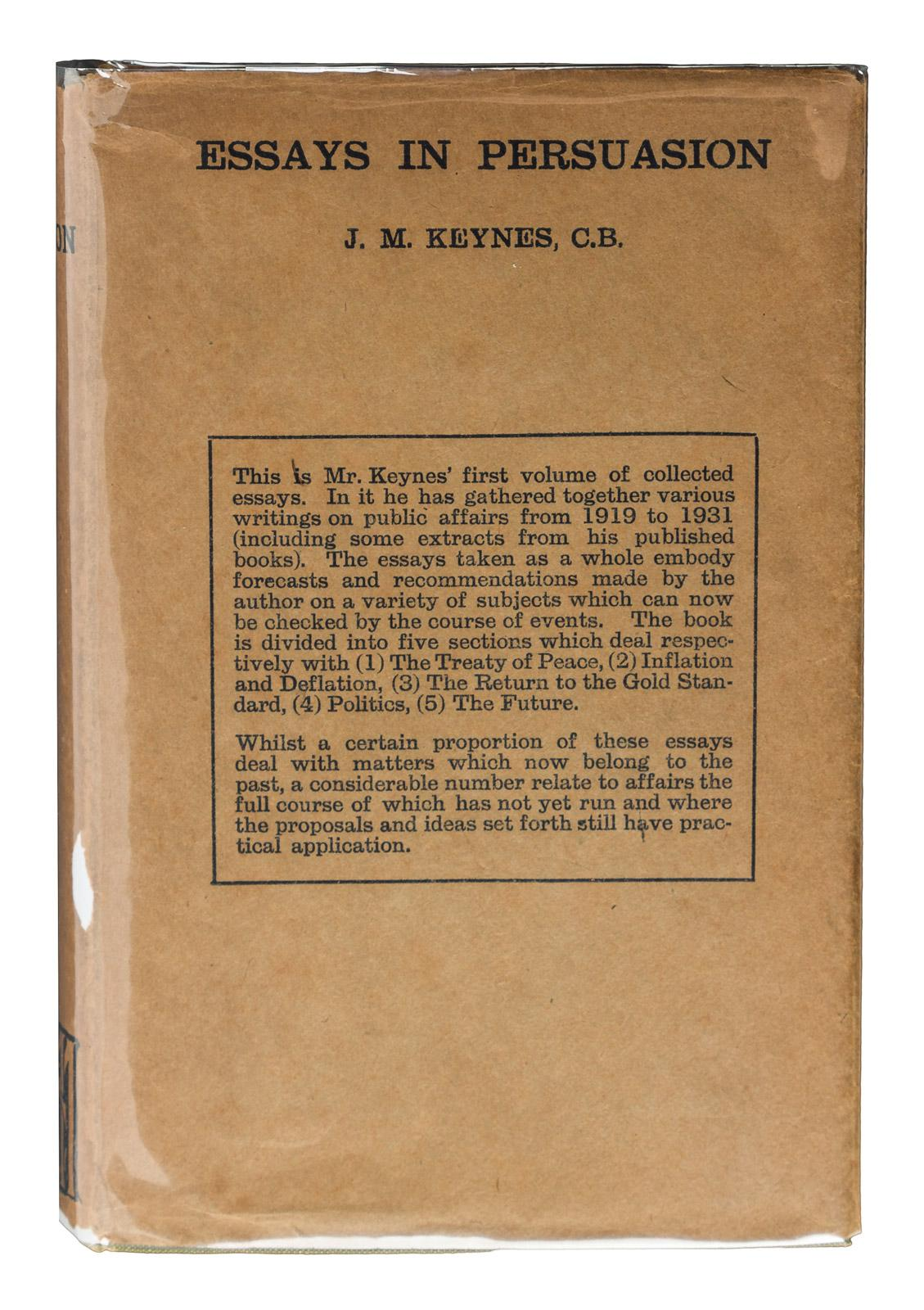 015 237551 0 Essay Example Essays In Remarkable Persuasion Keynes 1931 Wikipedia Summary Full