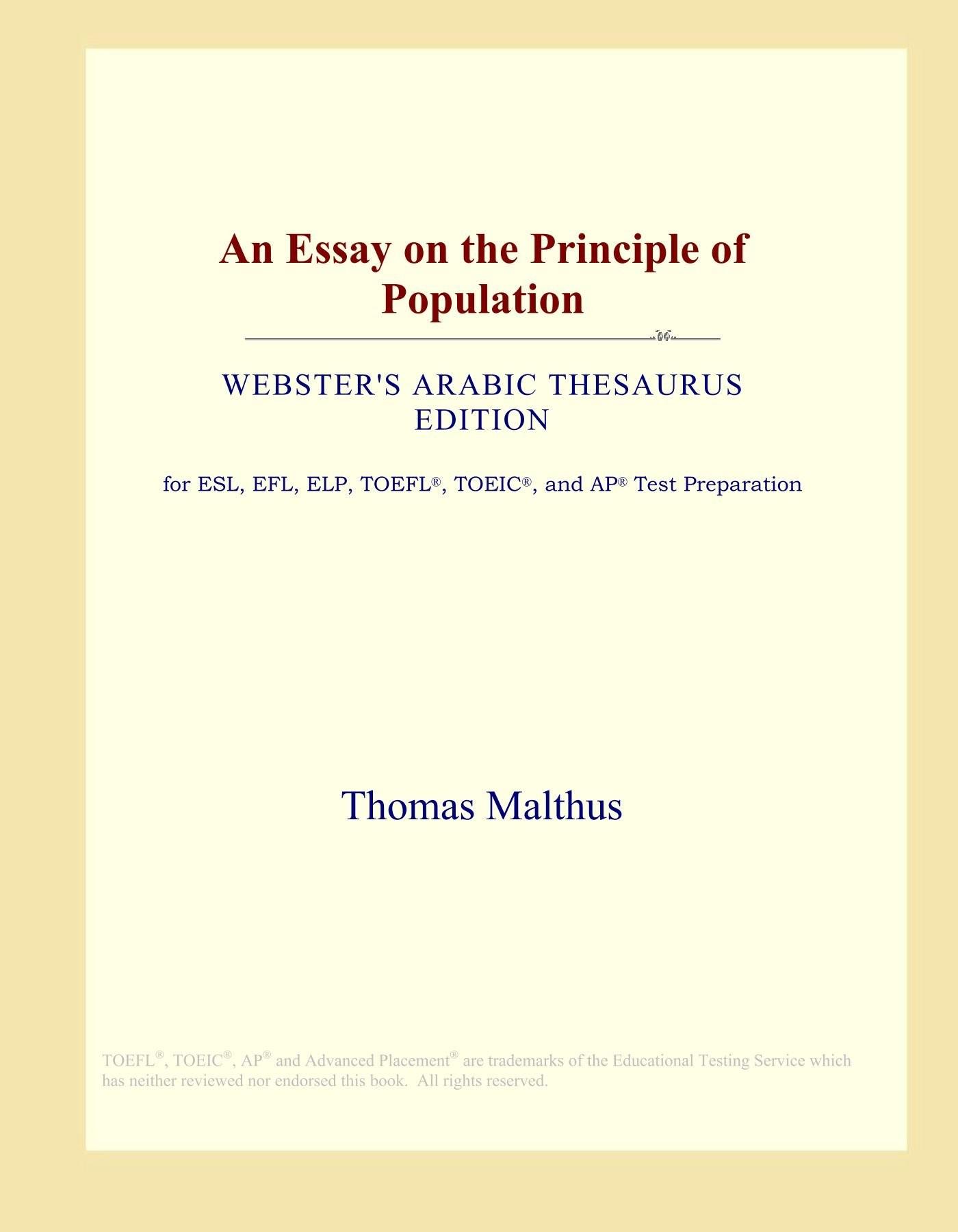 015 61groeunvgl Essay On The Principle Of Population Singular Malthus Sparknotes Thomas Main Idea 1400