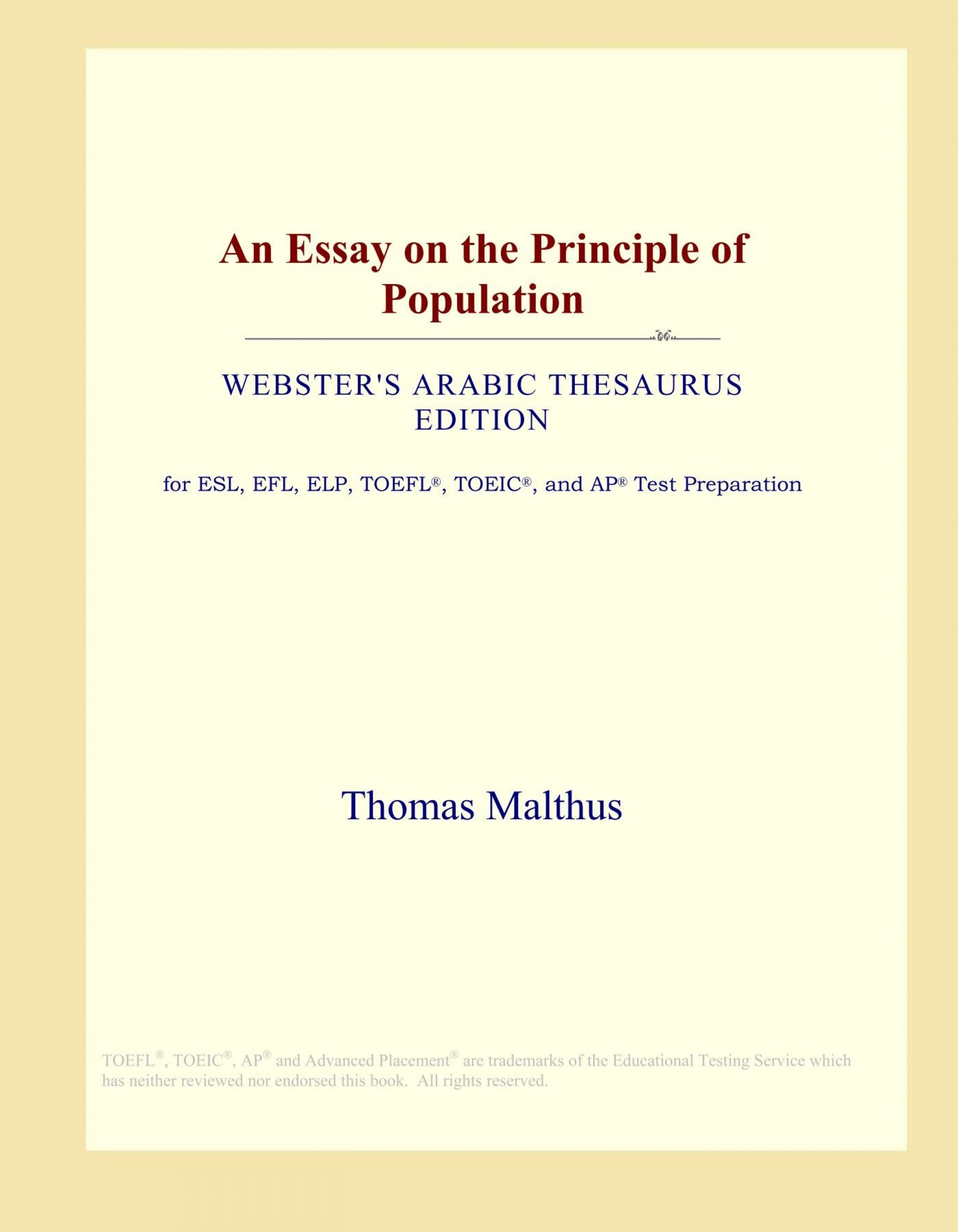 015 61groeunvgl Essay On The Principle Of Population Singular Pdf By Thomas Malthus Main Idea 1920