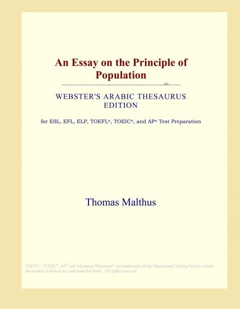 015 61groeunvgl Essay On The Principle Of Population Singular Malthus Sparknotes Thomas Main Idea 480