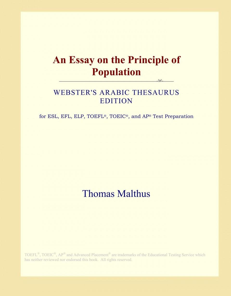 015 61groeunvgl Essay On The Principle Of Population Singular Malthus Sparknotes Thomas Main Idea 960