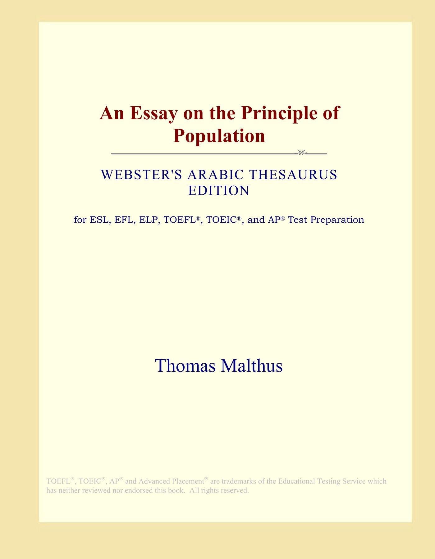 015 61groeunvgl Essay On The Principle Of Population Singular Pdf By Thomas Malthus Main Idea Full