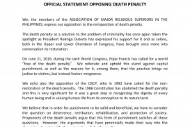 015 Amrsp Message Statement Against Death Penalty Essay On Beautiful Should Be Abolished Or Not In Hindi