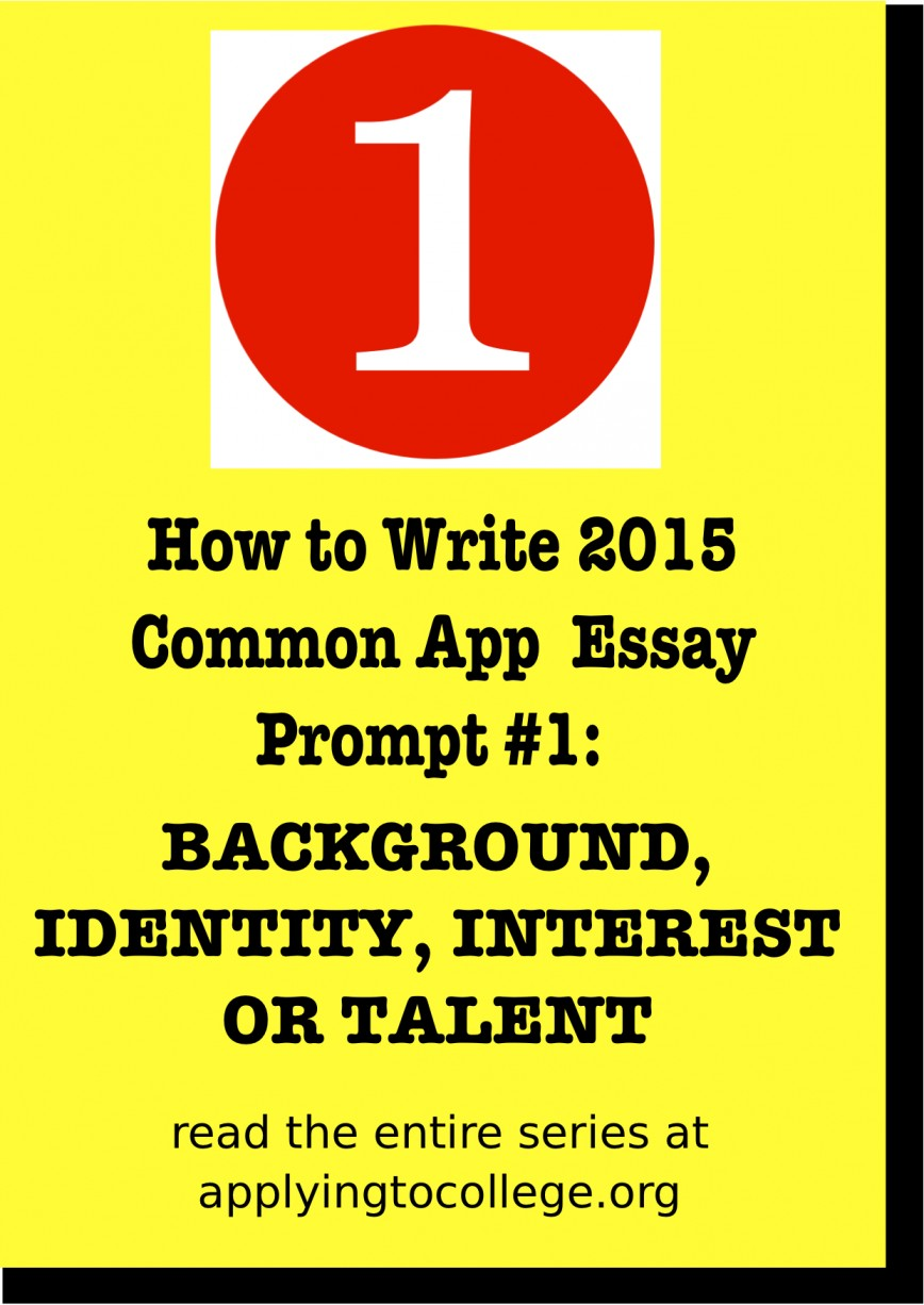 015 College Essay Prompts Example How To Write Common App Shocking 2015 Admission