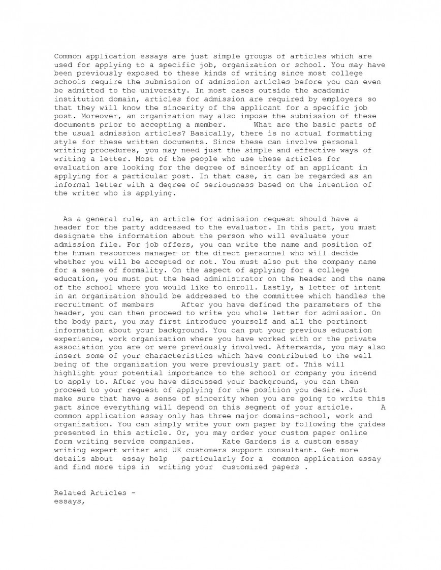 015 Common App College Essay Example Examples Of Essays For Application Transfer Ess Striking Format