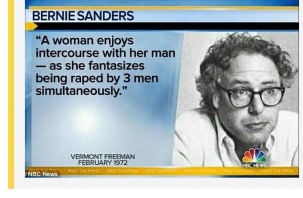 015 Dockpmxuwaangzl Bernie Sanders Rape Essay Phenomenal Large