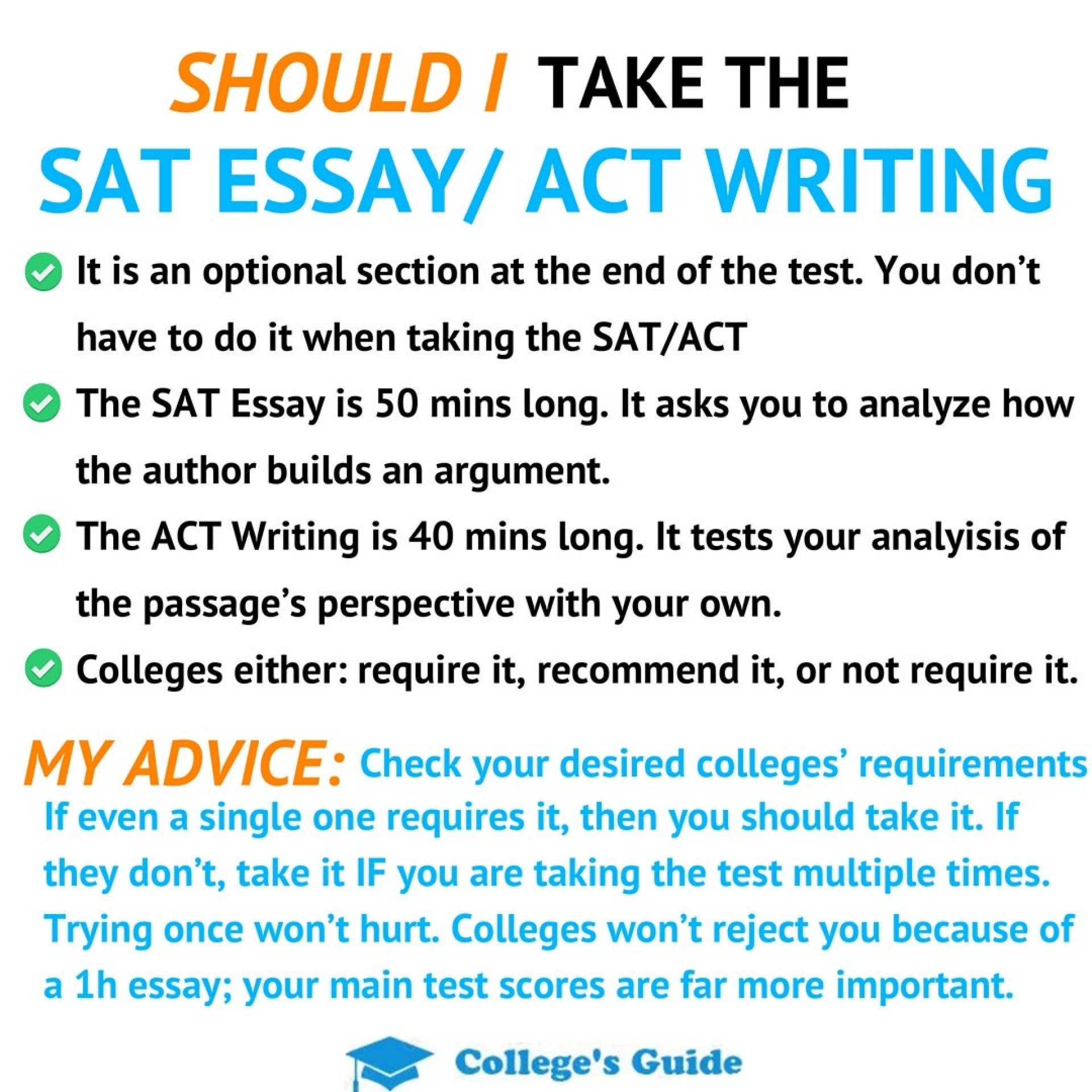 does usciences require sat essay