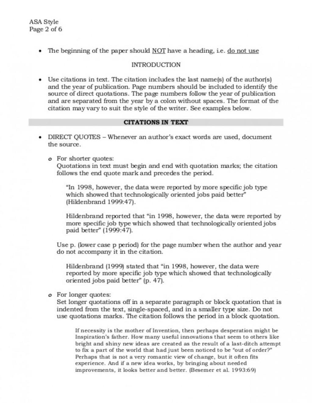 003 asa format example