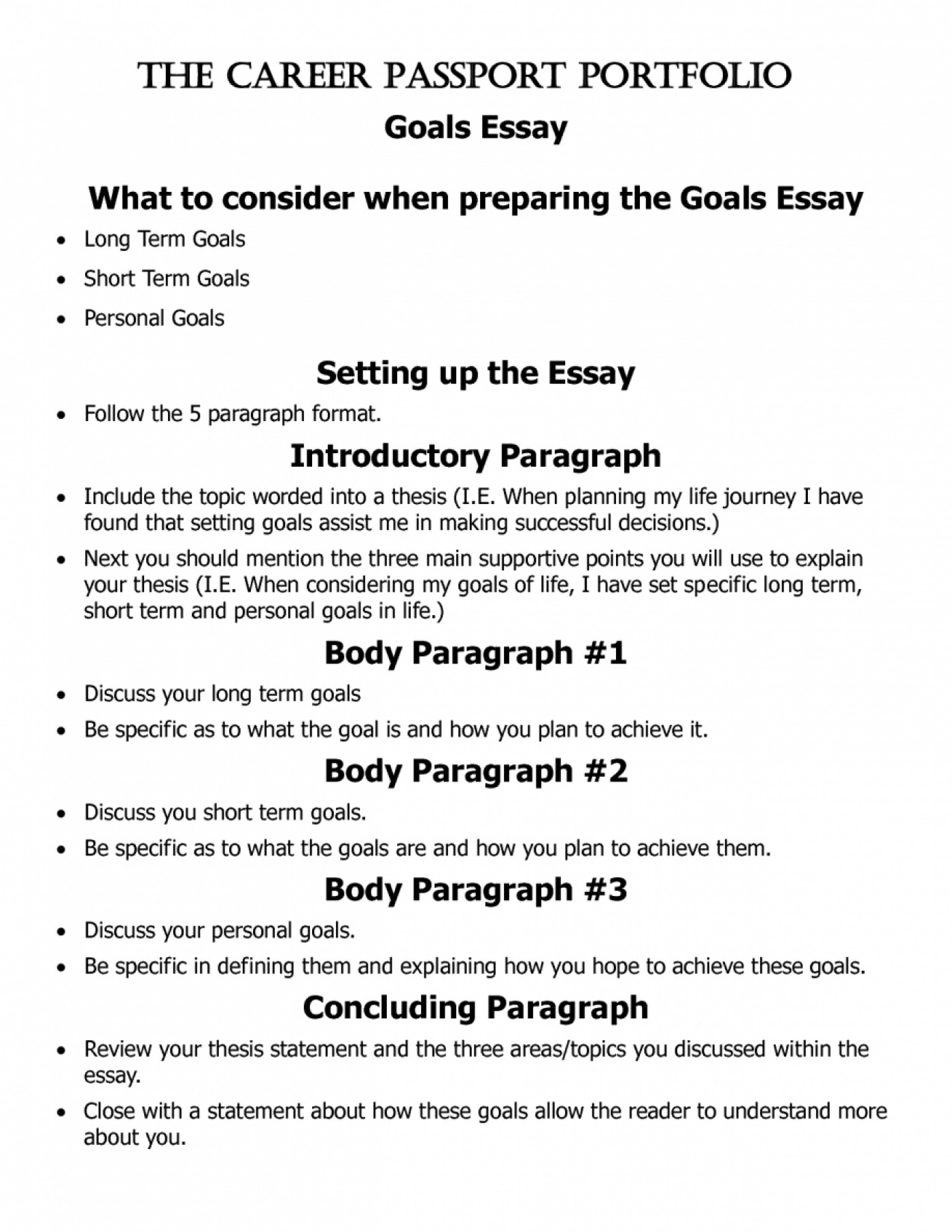 015 Essay Example Goals Short And Long Term Pevita L Awesome Mba Consulting Academic For College Sample 1400
