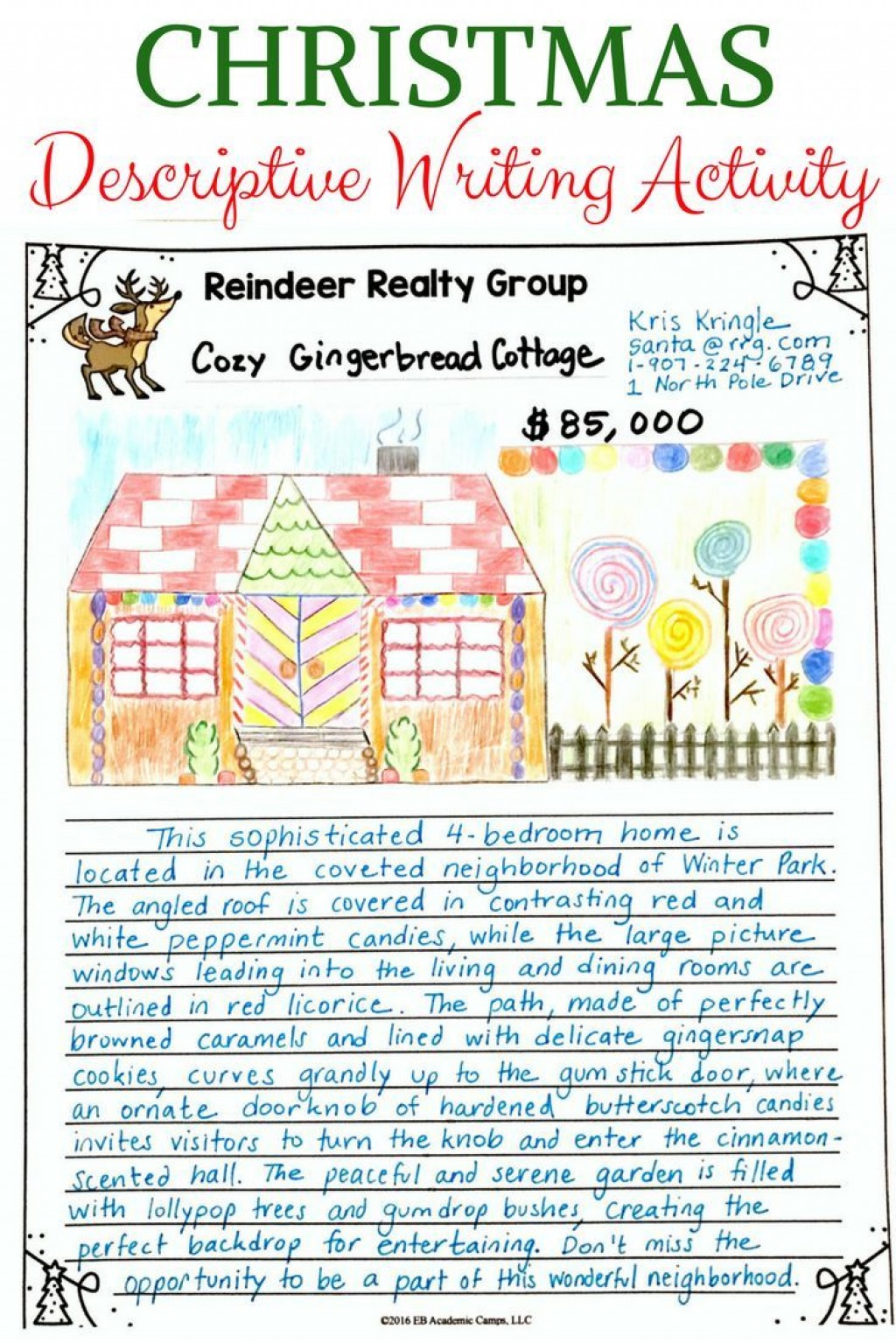 015 Essay Example Home Beautiful Descriptive Ideal My Town Large