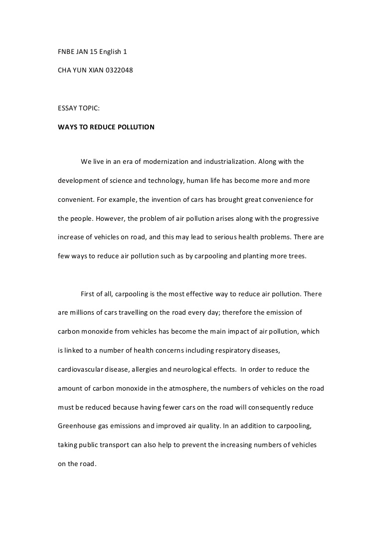 015 Essay Example Human Impact On The Environment Topics Impressive Full