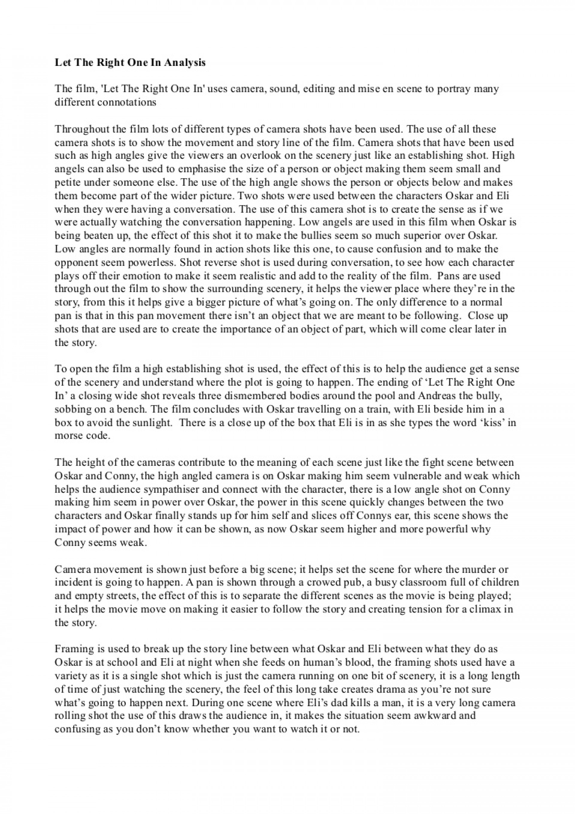 015 Essay Example Love Let The Right One In Phpapp01 Thumbnail Unbelievable Is Blind Ideas Shakespeare Topics 1920