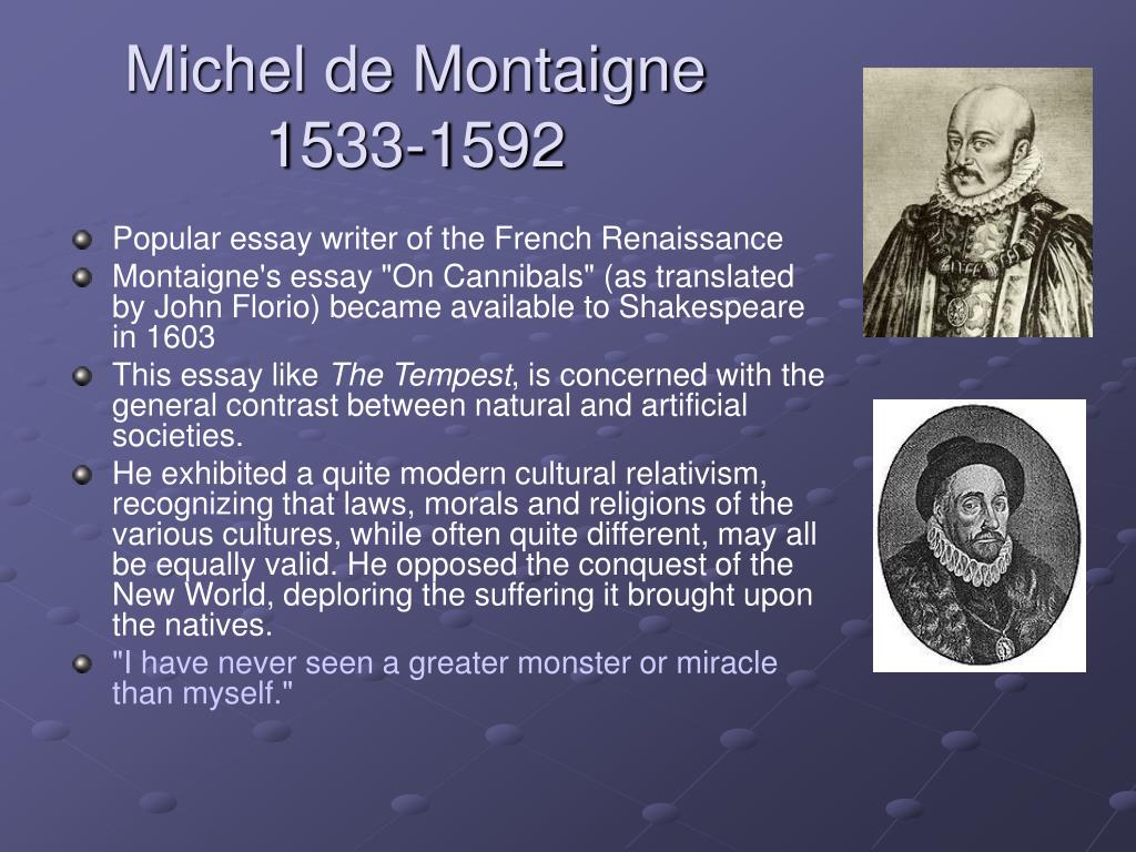 015 Essay Example Michel Montaigne L Essays Unbelievable Sparknotes Of Cannibals Full