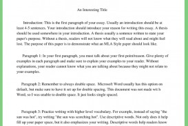 015 Essay Example Mla Style Sample Format Www Mrsnayla Com Writing Pinterest English Best Outline For College