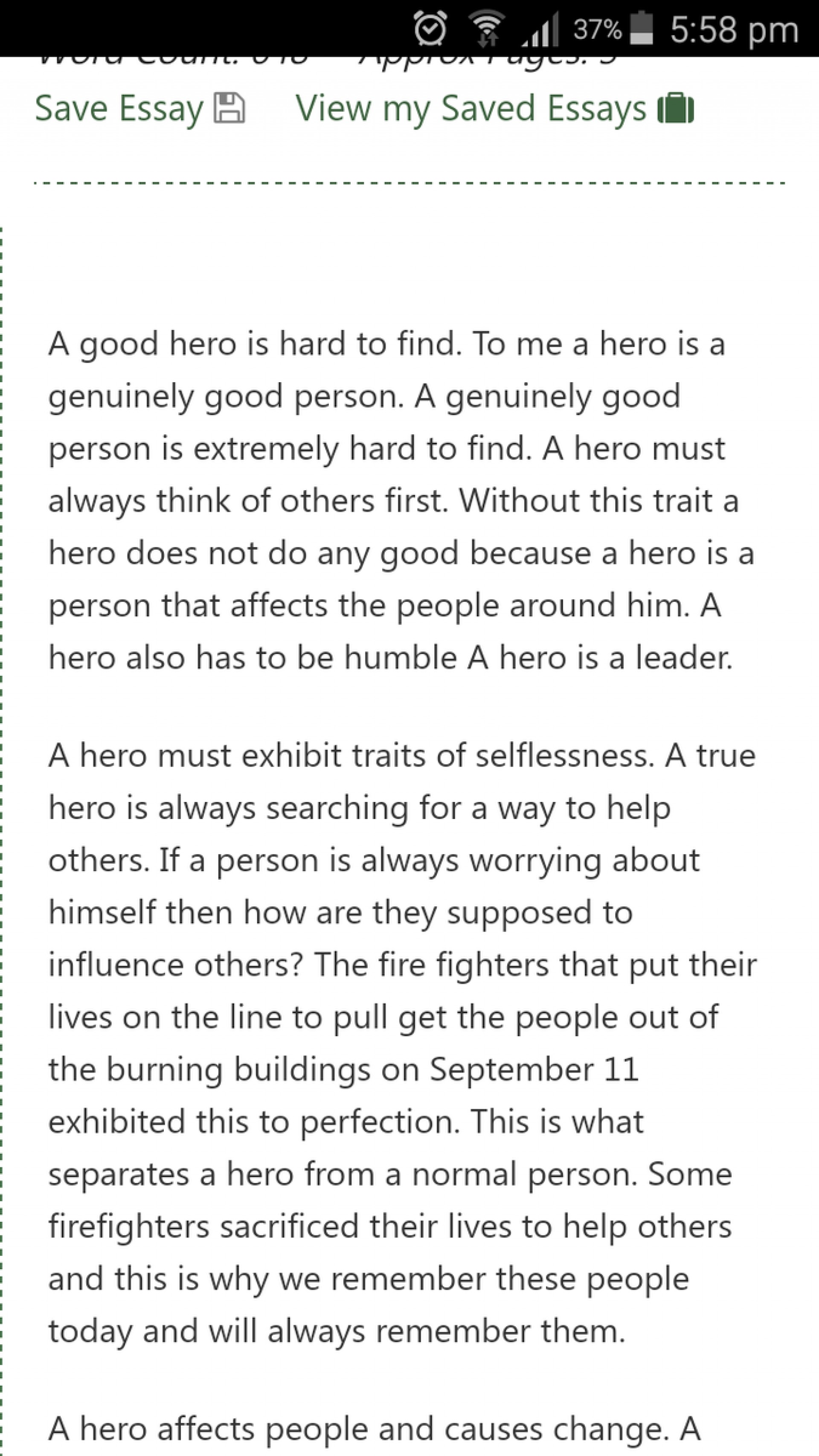 015 Essay Example My Real Life Hero Fascinating Unsung In Secret As A 1920
