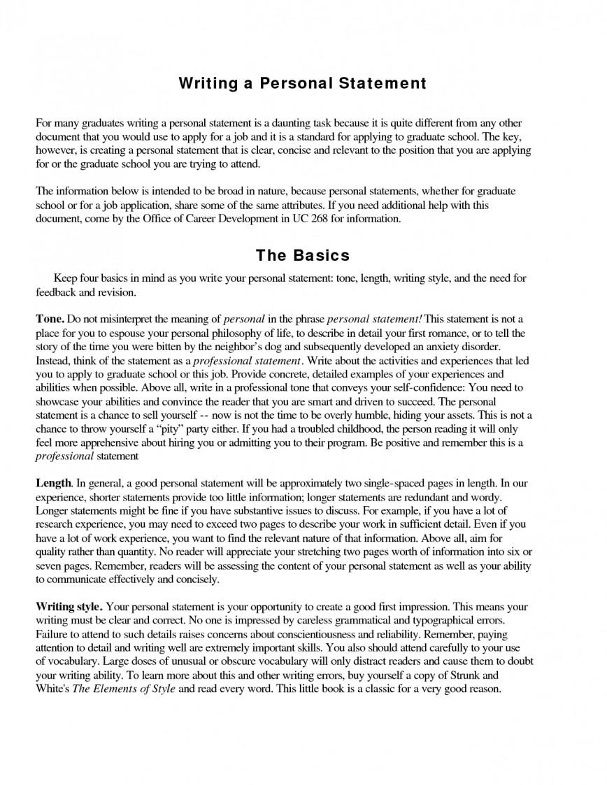015 Essay Example Personal Statement Sample Magnificent Essays For Graduate School Pdf Internship Science