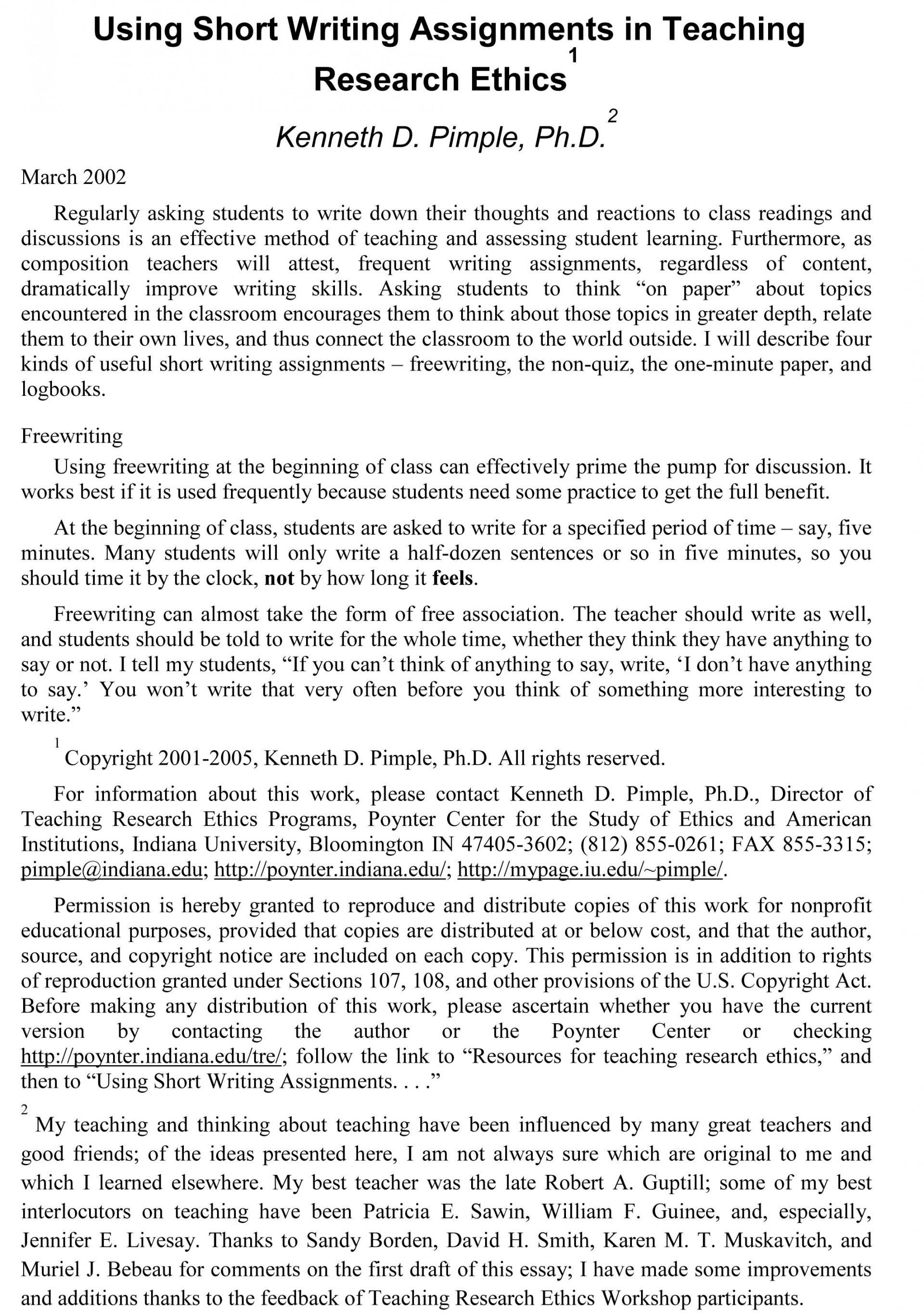 015 Essay Example Sample Teaching Evaluation Shocking Argument 1920