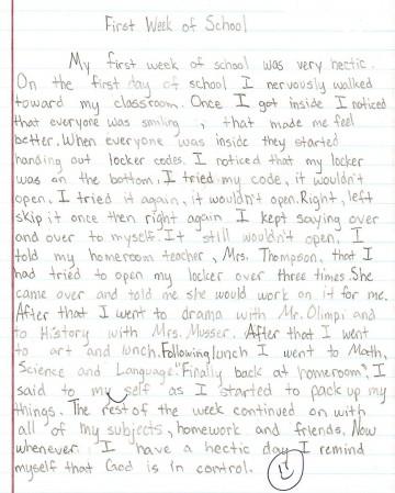 015 Essay Example Sample1a 8th Grade Phenomenal Topics Narrative Us History Questions 360